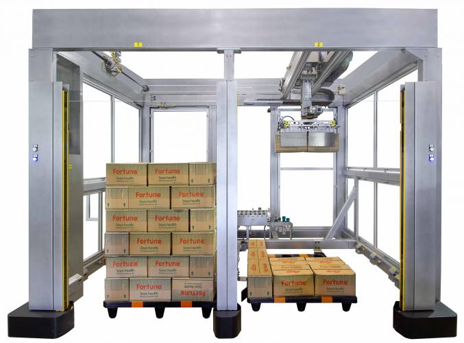 S-201 Dual manual pallet Cartesian palletizer 3